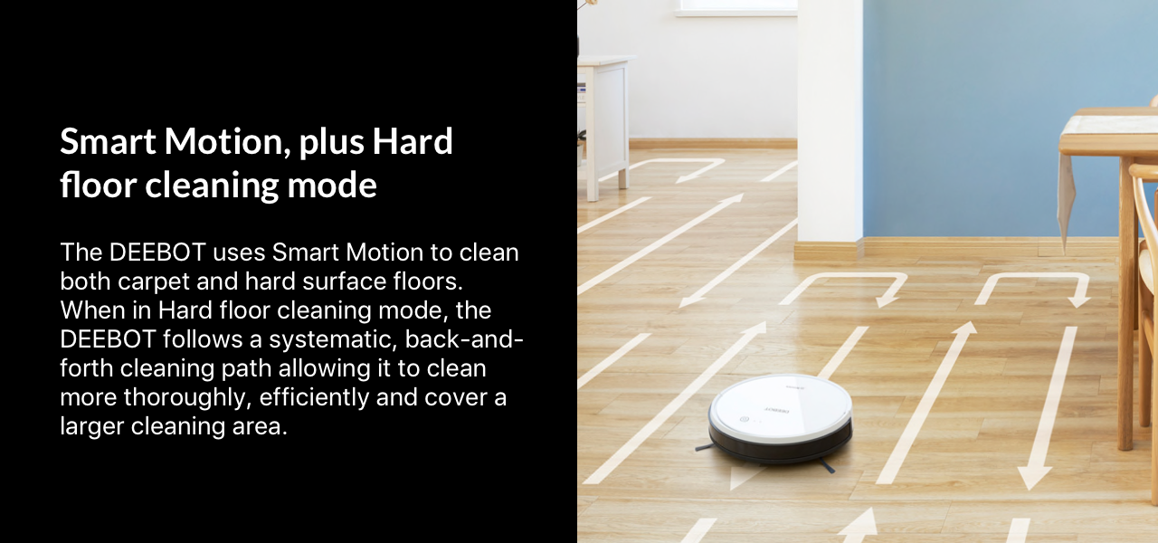 Smart Motion, plus Hard floor cleaning mode