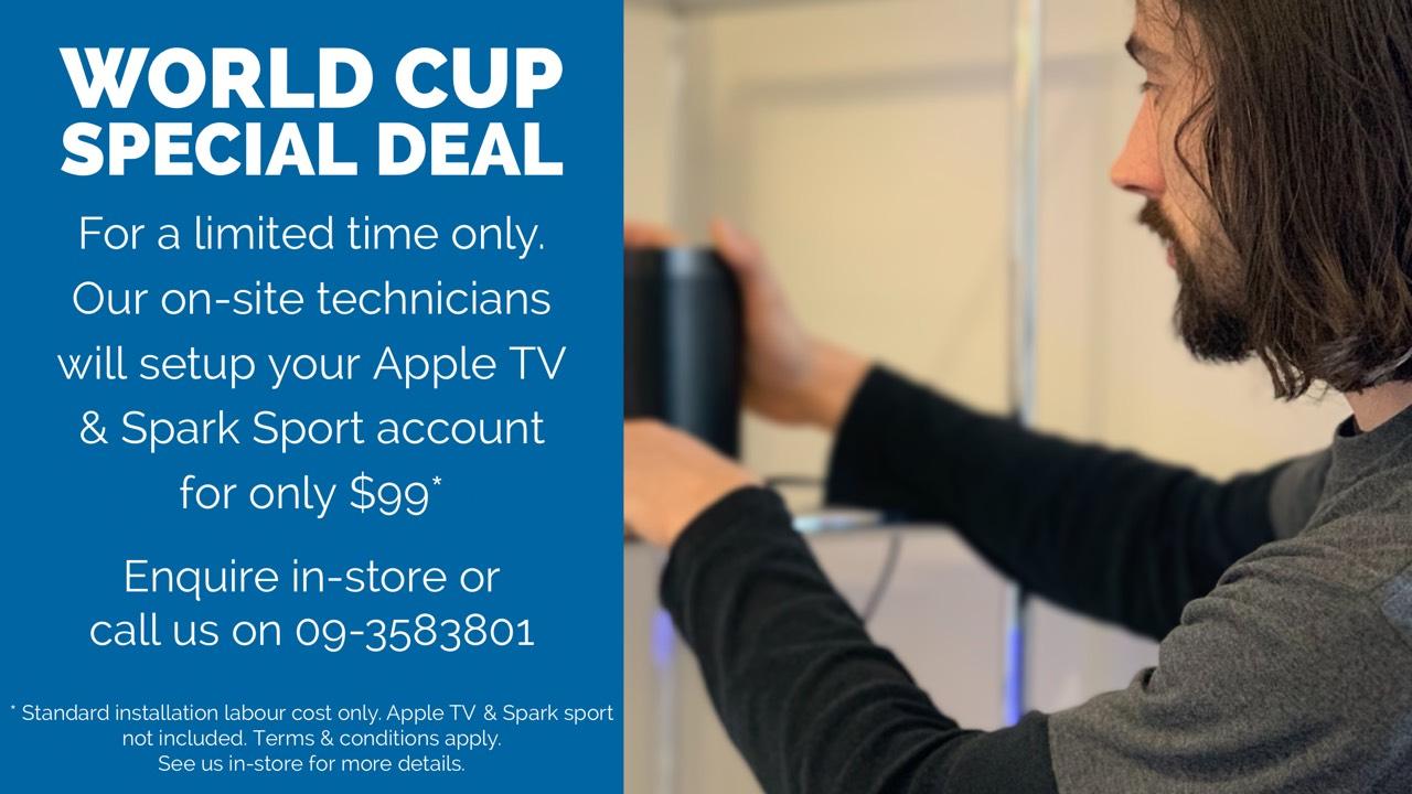 Installation service for Apple TV.